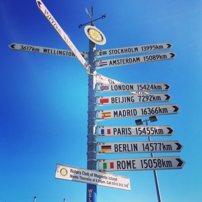 Signpost to home